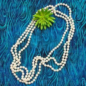 """Premier 46"""" Long Faux Pearl Necklace"""